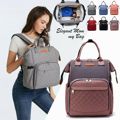 Mommy Baby Diaper Bag Maternity Backpack With D-shaped Ring Stroller