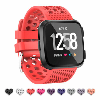 Replacement Bracelet For Fitbit Versa Silicone Sport Hole Watch Band Strap