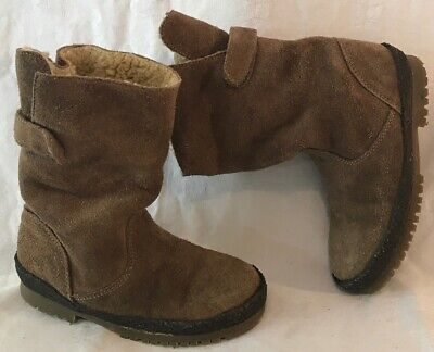 Girls Zara Brown Suede Lovely Boots Size 28 (9v)