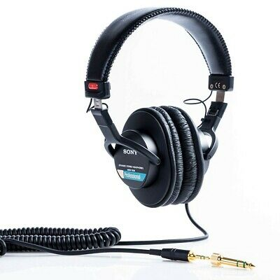Sony MDR7506 Professional Large Diaphragm Headphone Black With Tracking