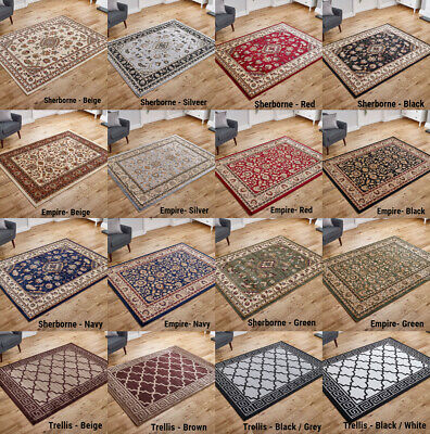 Traditional Classic Oriental Beige Grey Small to Large Discount Rugs Runner Sale