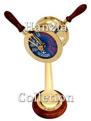 "20"" Brass Ship's Engine Order Telegraph Nautical Maritime Collectible Decorative"