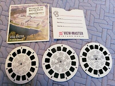 Vintage Sawyers Viewmaster  A 553 MUSEUM OF SCIENCE AND INDUSTRY CHICAGO Reels