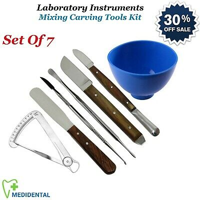 7-PCs Dental Modeling & Sculpting Wax Carvers Lab Equipments Dentistry Tools NEW