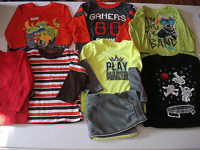 Toddler Boys Size 18 Month Lot of 8 Items Long Sleeve Shirts & Pant Fall Winter