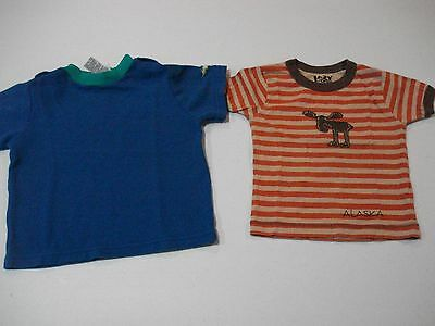 Boys Size 24 Months 2T Shirts Lot of 2 Short Sleeve Lazy One, Sesame Street