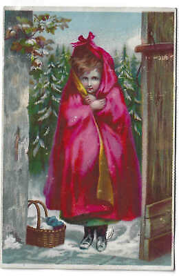 Vict.trade Card Quack Med. Dr. Jayne's Cure All- Little Red Riding Hood.