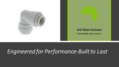 "John Guest RO Elbow Water Fitting 3/8"" push to connect union elbow"
