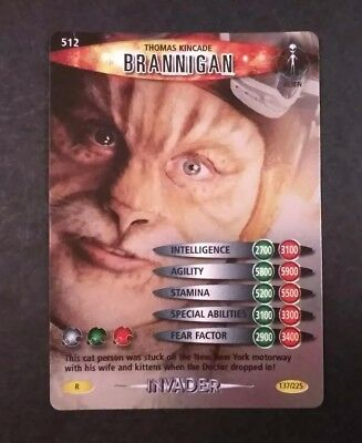 Dr Who Brannigan 137/225 Holo Invader Card NM