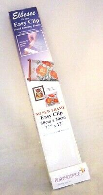 """Elbesse No Sew Easy Clip Tapstry Frame 12"""" x !2"""" VGC (WH_8842)"""