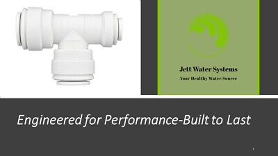 "John Guest RO Branch Run Reducing Tee Water Fitting (3/8""x3/8""x1/4""run)"