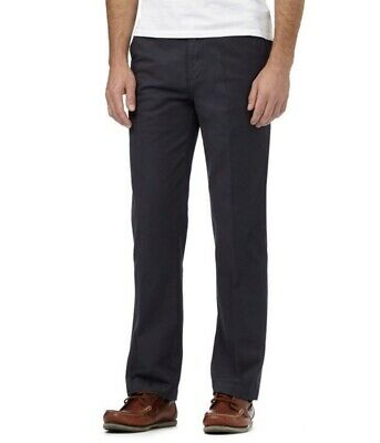 Maine New England Navy Micro Dot Tailored Fit Chino Trousers - Size: 44R or 46R