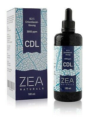 ZEA Naturals - Chlordioxid-Lösung 0,3% (100 ml) - inkl Glaspipette - CDS - CDL