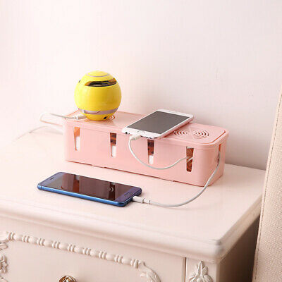 Table Cable Power Plug Storage Box Case Cord Wire Socket Safe Tidy Organiser FES