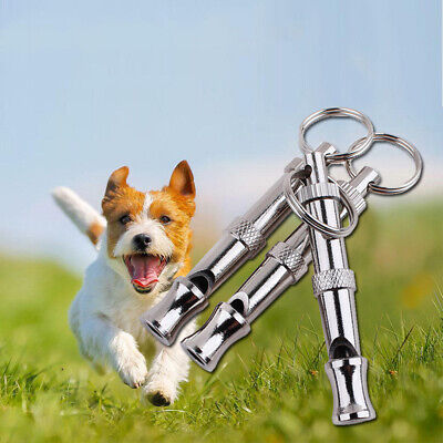 Puppy Pet Dog Whistle Two-tone Ultrasonic Flute Stop Barking Sound Repeller#Y