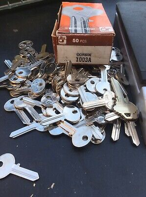 80+ Ilco Brand 1003 A,  Corbin. Key Blanks ~ Overfull Box!  New