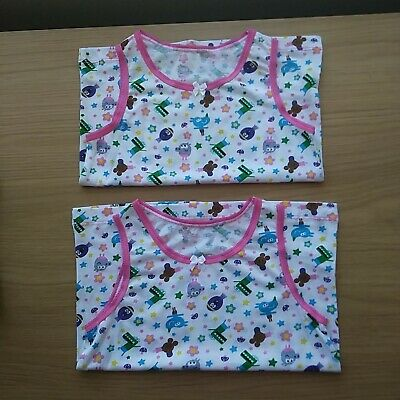 Hey Duggee 18-24 months Girls 2 pack  Vests tops 100% Cotton ex store .