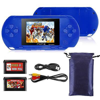 "2.8"" Portable 16 bit Handheld PXP 3 PVP Built-in 150 + Game Console Player Blue"