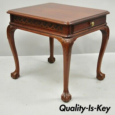 Pennsylvania House Cherry One Drawer Ball & Claw Chippendale Side Lamp End Table
