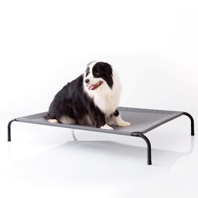 Petsure Elevated Dog Bed - Large Raised Cot for Dogs & Cats - Portable Indoor &