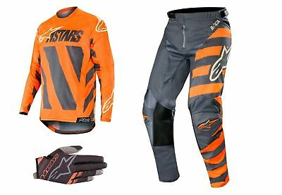 Alpinestars KTM Anthrazit/Orange Racer Braap 2019 Motocross Jersey / Hose /
