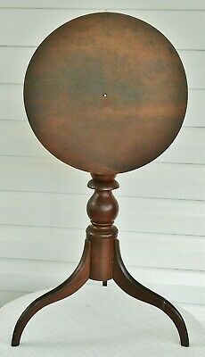 antique tilt top candle stand cherry side table 1830 american empire spider leg