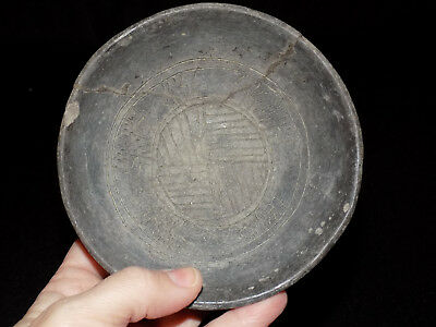 Pre-Columbian Chupicuaro Incised Lines Bowl,  Clay Bowl Authentic
