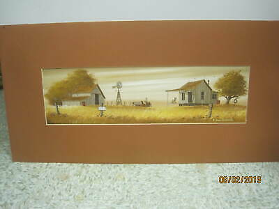 Vintage Original Oil Painting on Canvas Old Farm signed R Don Hutchins