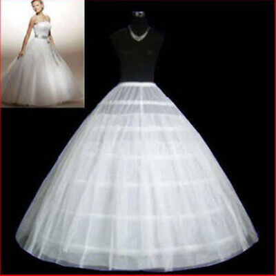 Ball Gown Girl's 6 Hoops Bridal Petticoat Crinoline Underskirt Skirt For Wedding