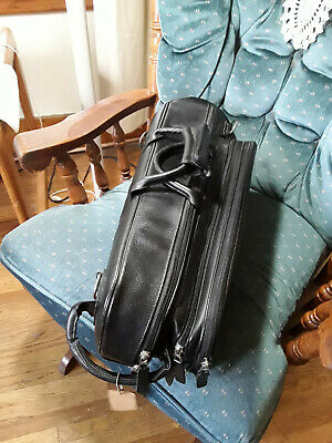 Protec Pro Pac trumpet case in black leather-- updated pictures