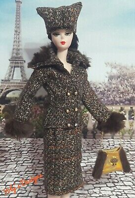 HANDMADE Dress FOR Barbie Silkstone Reproduction Vintage SATURDAY MATINEE Style