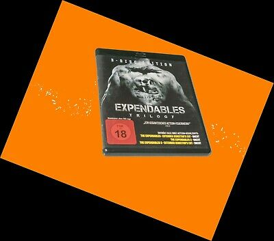 The Expendables Trilogie Trilogy Teil 1 2 3 UNCUT Bluray Sylvester Stallone