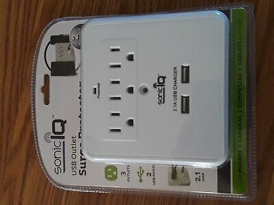 Sonic IQ USB Outlet Surge Protector