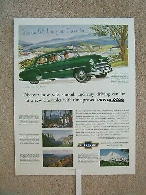 CHEVROLET DELUXE STYLELINE 1951 AE216 Poster A0 A1 A2 A3 CLASSIC CAR POSTER
