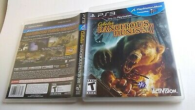 Cabela's Dangerous Hunts 2011 Playstation 3 PS3 MINT condition COMPLETE!