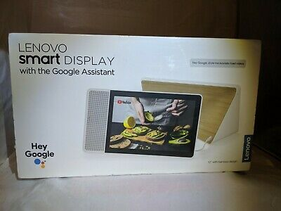 "Lenovo Smart Display 10"" w/ Google Assistant Bamboo Brand New Sealed ZA3N0001US"