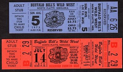 (2) Tickets To Buffalo Bill Cody Wild West Show ~ North Platte Nebraska