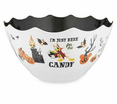 Disney Parks Halloween Candy Treat Bowl Mickey Minnie Donald Here For Candy New