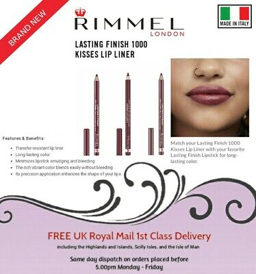 NEW Rimmel Lasting Finish 1000 Kisses Lip Liner Pencil - Made in Italy