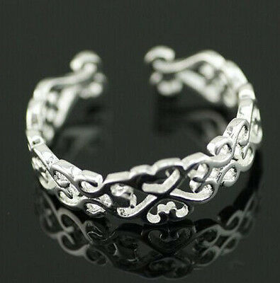 925 Solid Sterling Silver Plated Women/Men Fashion Jewelry Ring SIZE OPEN H27