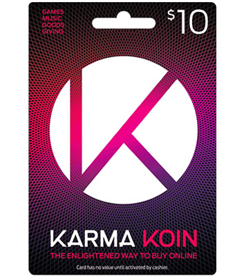 Karma Koin 10$ gift card fast delivery free shipping (only email delivery)