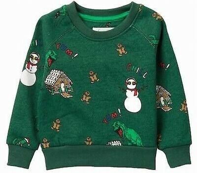Sovereign Code Baby Boys Sweater Green Size 24 Months Holiday Bryson $36 574