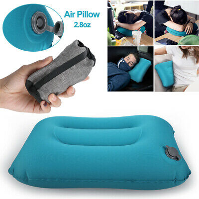 Portable Air Travel Pillow Airplane Neck Head Chin Cushion Office Nap Rest Soft