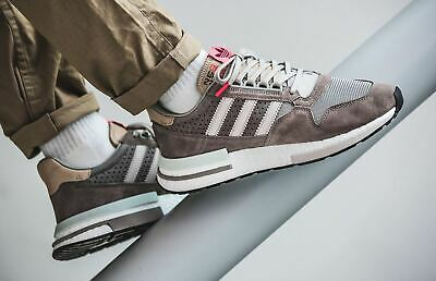 the best attitude 29718 41aed ADIDAS MENS ORIGINALS ZX 500 RM Shoes Simple Brown Trainers Premium Suede  Upper
