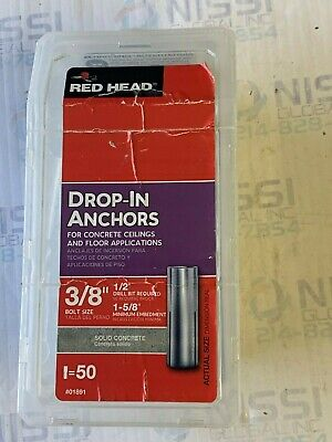 """Lot Of 23 Red Head Rl-38 Drop-In Anchors 3/8"""" Bolt Size"""