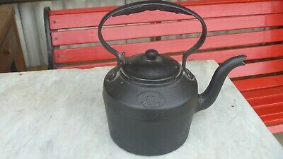 Antique Cast Iron Kettle MERTON'S PATENT No.1 4 Pints