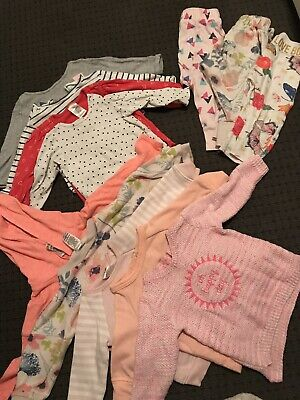 Bonds Cotton On Target Size 0 6-12months x 12 Girls Bundle Winter