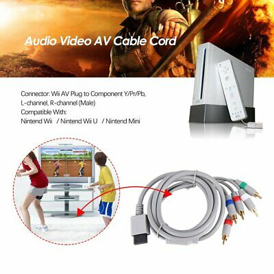 6FT HD TV Component RCA Audio Video AV Cable Cord Plug for Nintend Wii U ZO