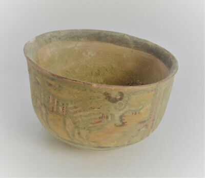 Ancient Indus Valley Harappan Terracotta Vessel With Stag And Beast Motifs