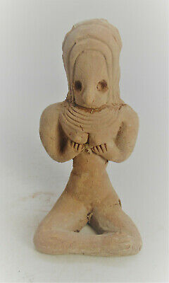 Circa 2200 Ancient Indus Valley Harappan Terracotta Seated Fertility Figure